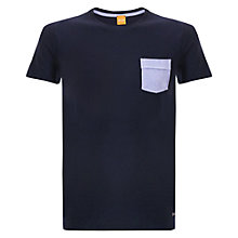 Buy BOSS Orange Thallis Pique Pocket T-Shirt, Navy Online at johnlewis.com