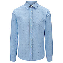 Buy BOSS Orange Eslime Geo Print Shirt, Light Blue Online at johnlewis.com