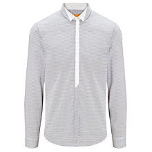Buy BOSS Orange Emre Printed Stripe Shirt, Grey Online at johnlewis.com