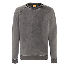 Buy BOSS Orange Wenturi Sweatshirt, Grey Online at johnlewis.com