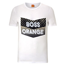 Buy BOSS Orange Tripolo Logo T-Shirt, White Online at johnlewis.com