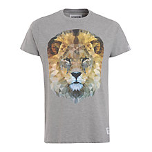 Buy Supremebeing Lion Print T-Shirt, Grey Online at johnlewis.com
