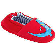 Buy John Lewis Dino Closed Slippers, Red Online at johnlewis.com