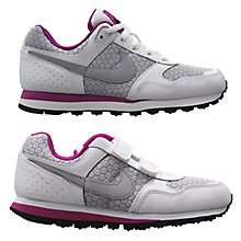 Buy Nike MD Runner Trainers, Grey/Pink Online at johnlewis.com