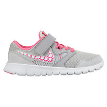 Buy Nike Children's Flex Experience 3 Trainers, Grey/Pink Online at johnlewis.com