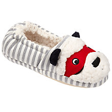 Buy John Lewis Children's Masked Panda Slippers, Black Grey/Cream Online at johnlewis.com