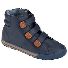 Buy John Lewis Harry High Top Shoes, Navy/Tan Online at johnlewis.com