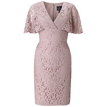 Buy Adrianna Papell Flutter Sleeve Dress, Parchment Online at johnlewis.com