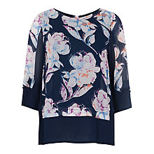 Buy French Connection Shadow Bloom Top, Nocturnal Online at johnlewis.com