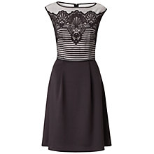 Buy Adrianna Papell Scalloped Lace Fit and Flare Dress, Black Online at johnlewis.com