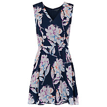 Buy French Connection Shadow Bloom Flared Dress, Multi Online at johnlewis.com