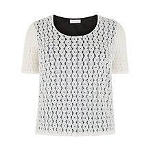Buy Windsmoor Lace Jersey Top, Ivory Online at johnlewis.com