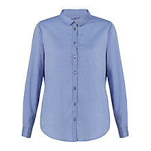 Buy Jigsaw Chambray Spot Shirt, Chambray Online at johnlewis.com
