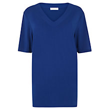 Buy Windsmoor V-Neck Tunic Top, Mid Blue Online at johnlewis.com
