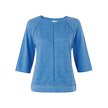 Buy Jigsaw Embroidered Front Top Online at johnlewis.com