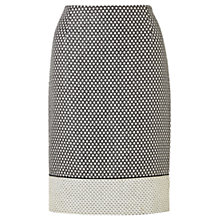 Buy Jigsaw Textured Pencil Skirt, Monochrome Online at johnlewis.com