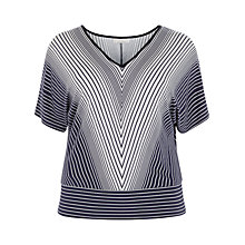 Buy Windsmoor Stripe Oversize Top, Navy Online at johnlewis.com