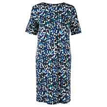 Buy Jigsaw Ink Print T-Shirt Dress, Blue Online at johnlewis.com