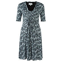Buy Jigsaw Blurred Feather Dress, Multi Online at johnlewis.com