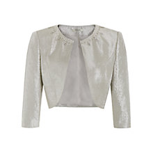 Buy Precis Petite Embellished Bolero, Oyster Online at johnlewis.com