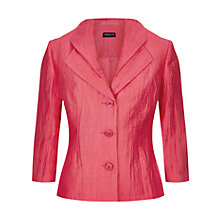 Buy Precis Petite Crinkle Jacket, Raspberry Online at johnlewis.com