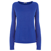 Buy Oasis Woven Back Jumper, Mid Blue Online at johnlewis.com