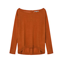 Buy Gerard Darel Attitude Linen Jumper, Orange Brulée Online at johnlewis.com