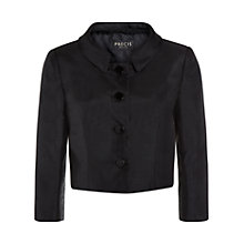 Buy Precis Petite Shantung Cropped Jacket, Black Online at johnlewis.com