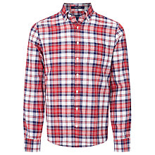 Buy Gant Preppy Poplin Large Check Shirt, Red Online at johnlewis.com