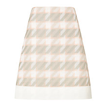 Buy BOSS Dogtooth Skirt, Pink Online at johnlewis.com