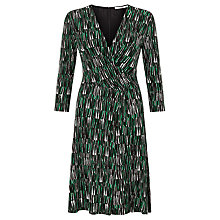 Buy BOSS Wrap Jersey Dress, Open Green Online at johnlewis.com