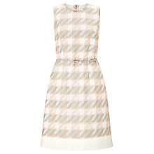 Buy BOSS Dogtooth Dress, Pink Online at johnlewis.com