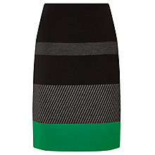 Buy BOSS Manine Trim Skirt, Black Online at johnlewis.com