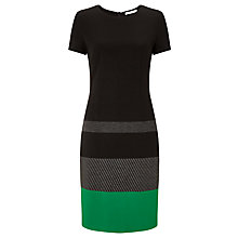 Buy BOSS Colour Block Trim Dress, Black Online at johnlewis.com