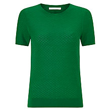 Buy BOSS Textured Short Sleeve Knit Top Online at johnlewis.com