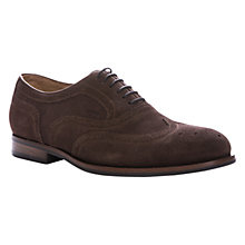 Buy Geox Hampstead Oxford Suede Brogues, Chestnut Online at johnlewis.com