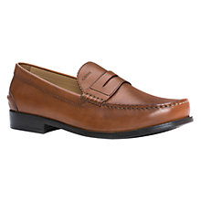 Buy Geox Damon Leather Penny Loafers, Cognac Online at johnlewis.com