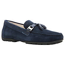 Buy Geox Monet Suede Tassel Loafers, Navy Online at johnlewis.com