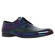 Buy KG by Kurt Geiger Holding Iridescent Leather Derby Shoes, Black Online at johnlewis.com