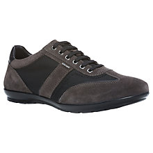 Buy Geox Symbol City Leather Trainers, Mud Online at johnlewis.com