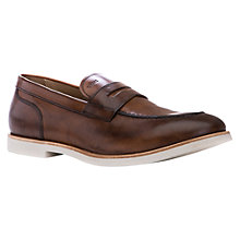 Buy Geox Manuel Leather Penny Loafers, Cognac Online at johnlewis.com