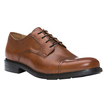 Buy Geox Dublin Toe Cap Derby Shoes, Dark Brown Online at johnlewis.com