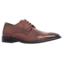 Buy KG by Kurt Geiger Mark Leather Derby Shoes, Tan Online at johnlewis.com