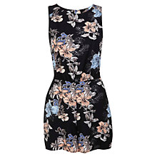 Buy Miss Selfridge Floral Print Playsuit, Multi Online at johnlewis.com