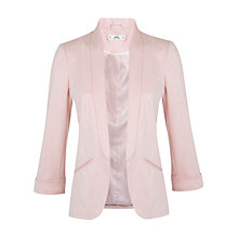 Buy Miss Selfridge Petite Ponte Blazer, Nude Online at johnlewis.com