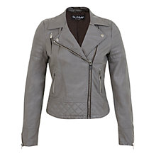 Buy Miss Selfridge Molly Faux Leather Biker Jacket Online at johnlewis.com