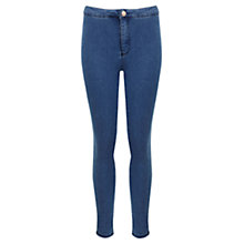 Buy Miss Selfridge Petite High Waisted Jeans, Mid Blue Online at johnlewis.com