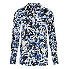 Buy Viyella Ink Spot Rose Blouse, Cobalt Online at johnlewis.com