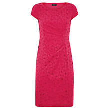 Buy Precis Petite Stretch Floral Dress, Raspberry Online at johnlewis.com
