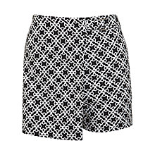 Buy Miss Selfridge Petite Mono Buckle Skort, Black Online at johnlewis.com